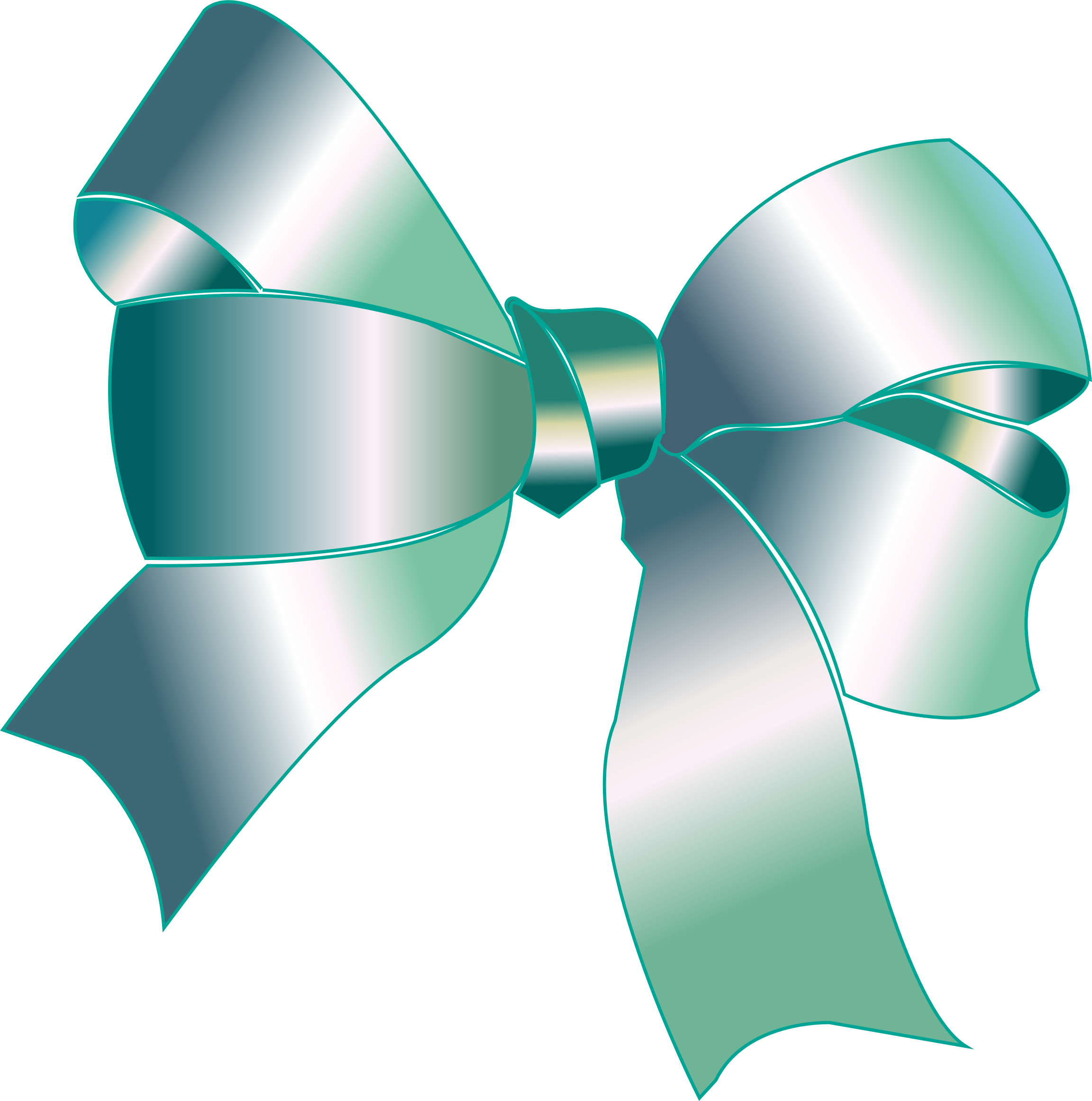 collection of ribbon. Clipart bow silver