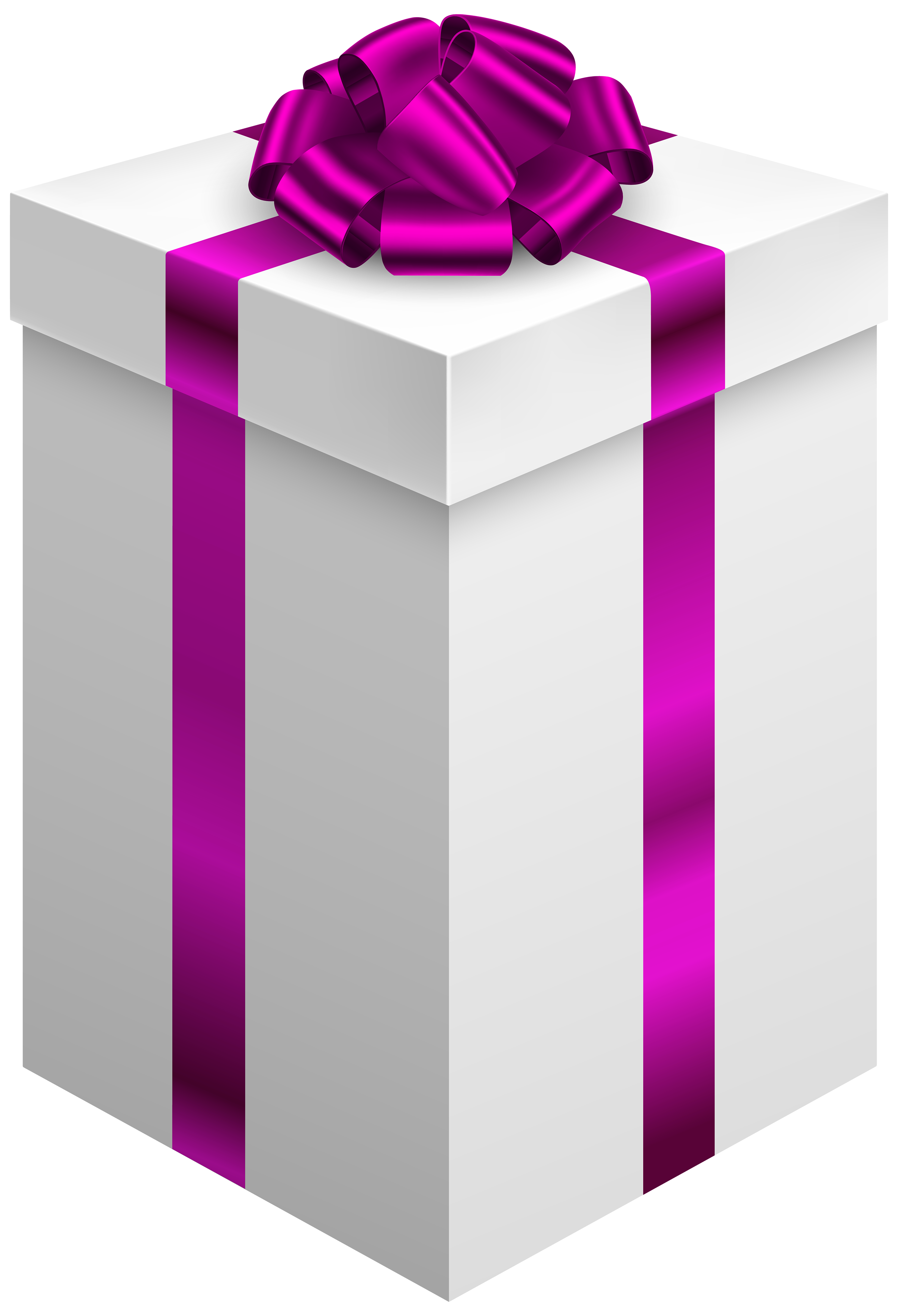 Purple clipart present. Gift box with bow
