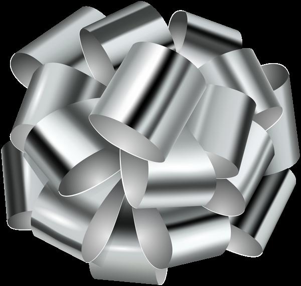Decorative transparent clip art. Clipart bow silver