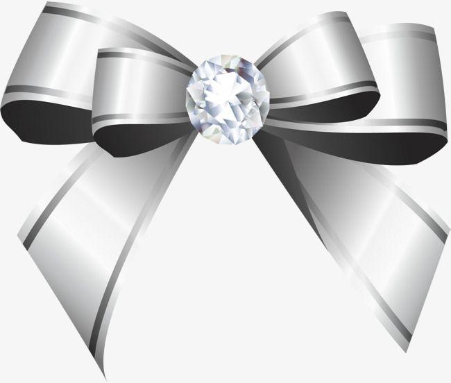 Clipart bow silver. Dibujado a mano ribbon