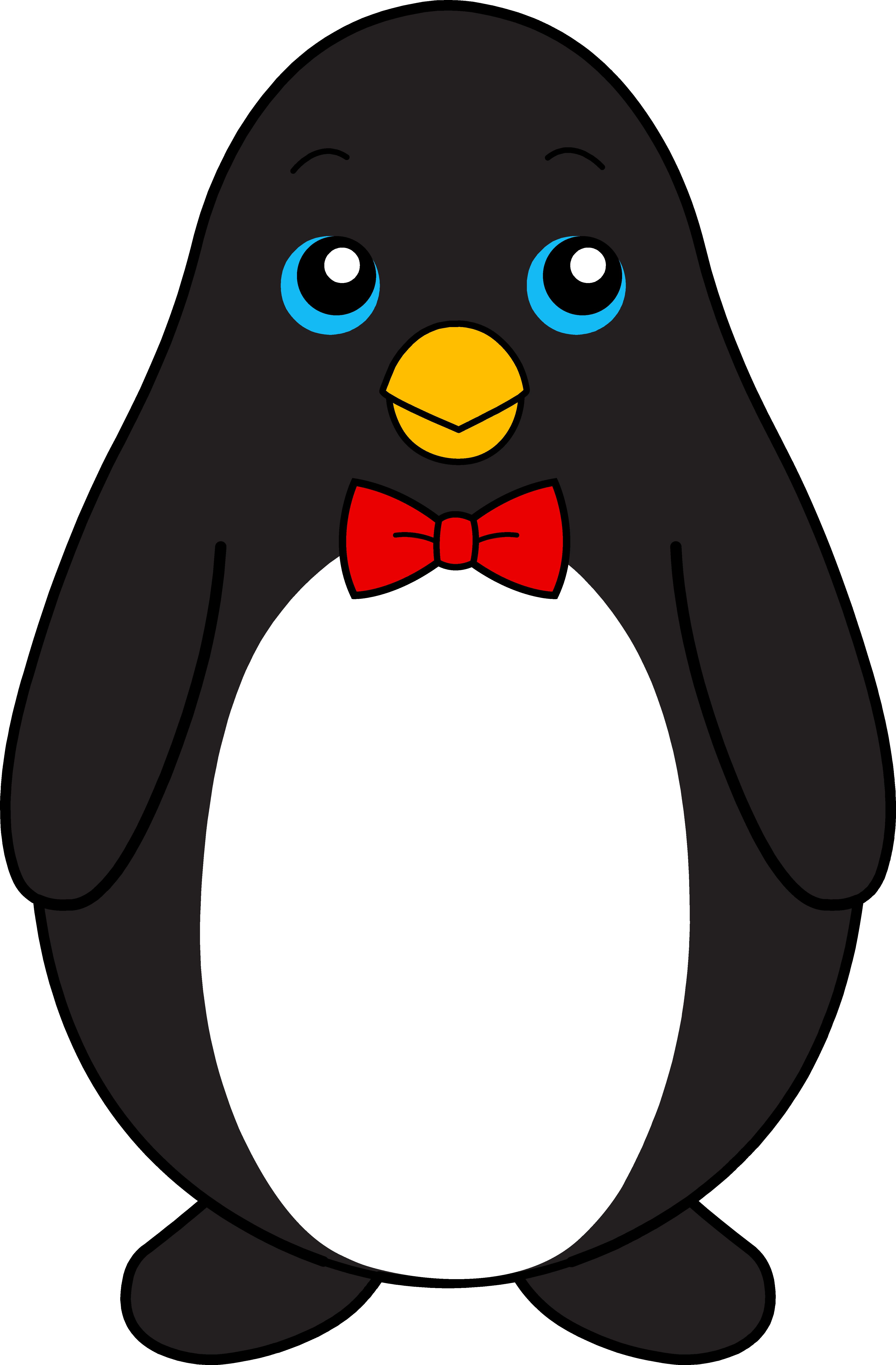 Bow black and white. Clipart penquin pengui