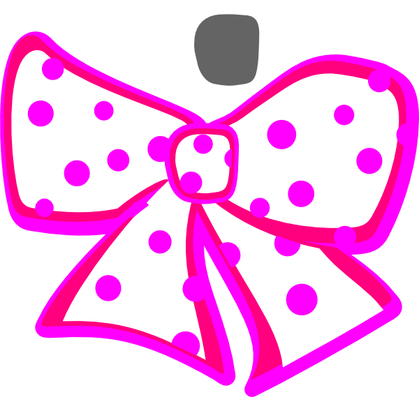 Dotted bow clip art. White clipart bowtie