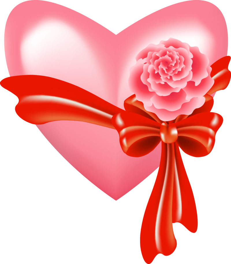Clipart bow sorority. Pink heart with rose