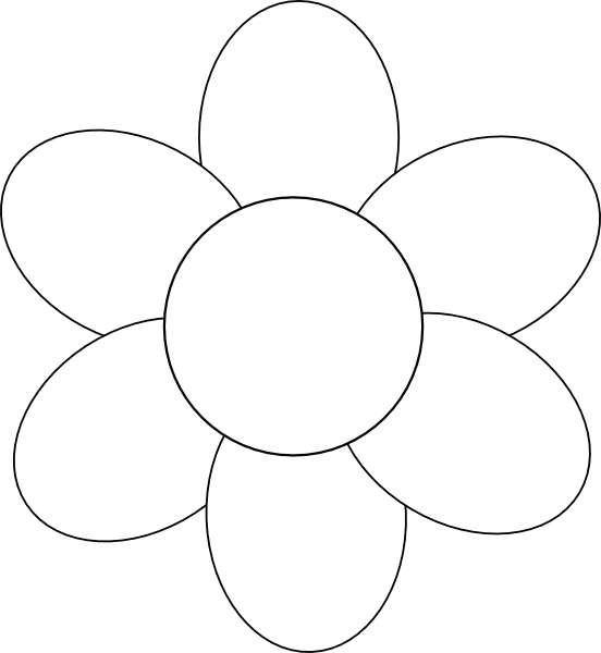 Clover clipart traceable. Flower template free printable