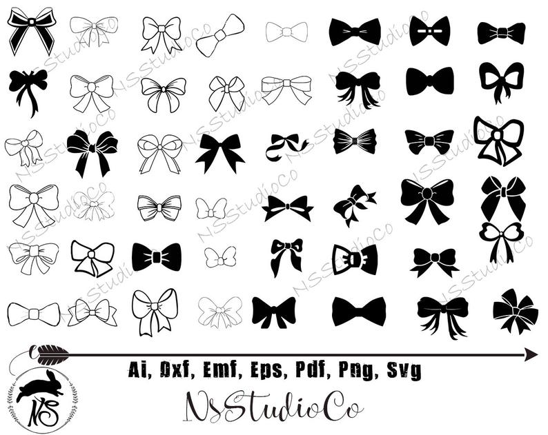 Clipart bow vector. Svg stencil digital file
