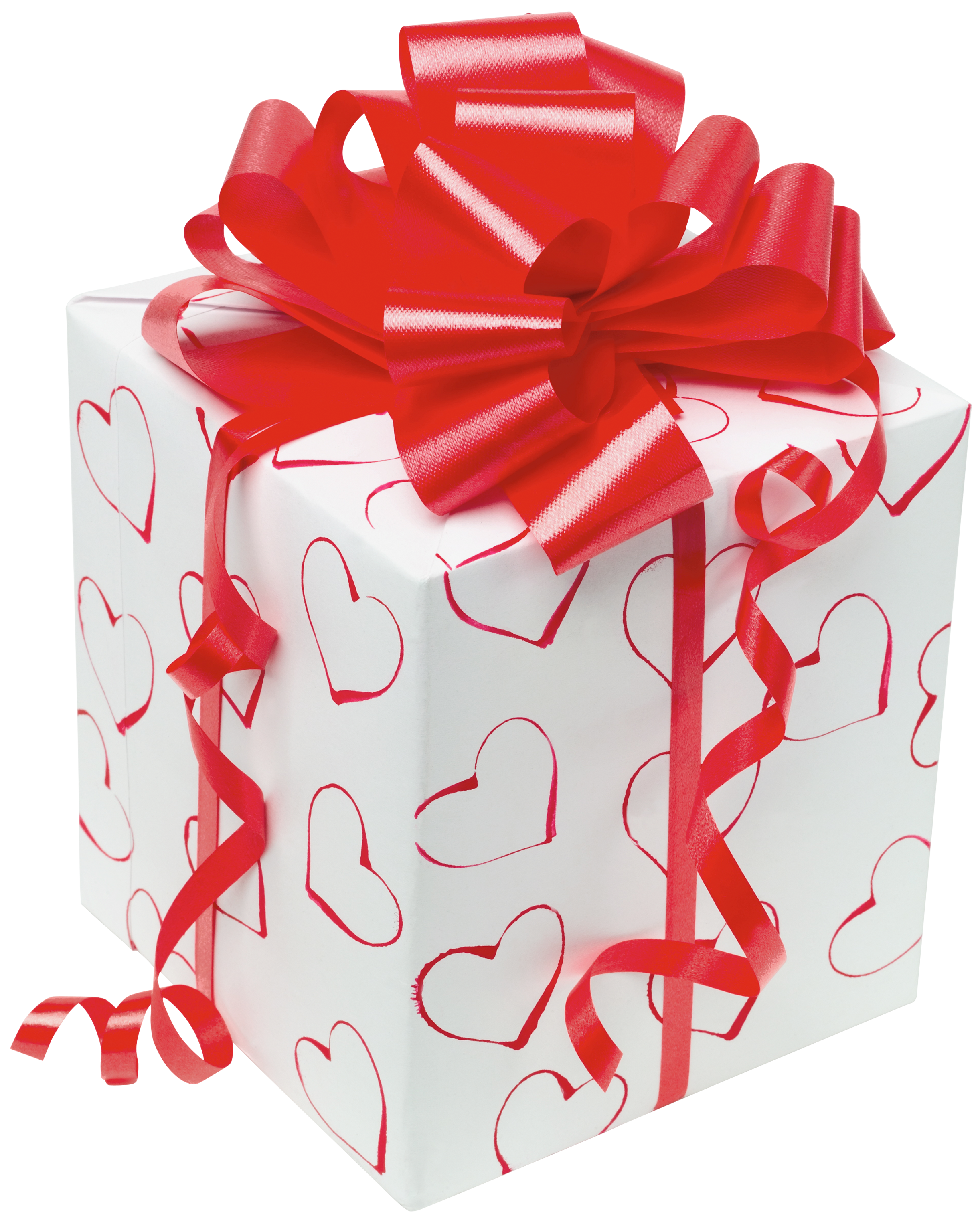 White present with red. Clipart designs box