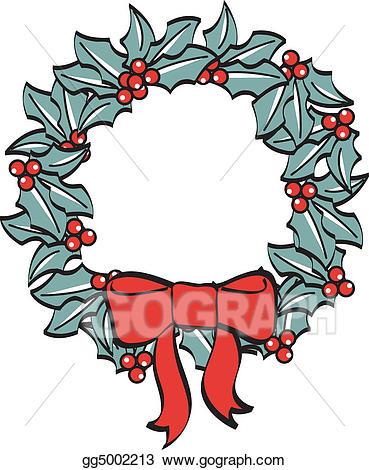 Vector art christmas ribbon. Clipart bow wreath bow