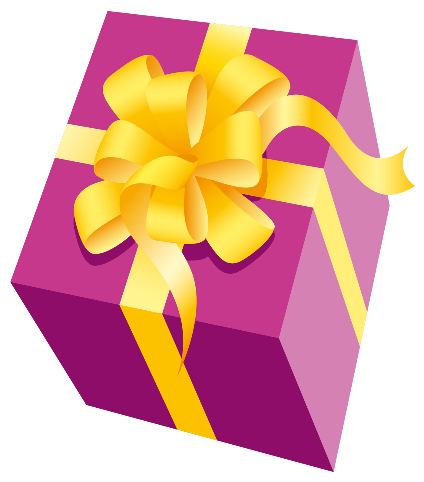 Gift clipart yellow. Pink png present with