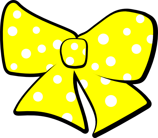 Bow clipart easter. Yellow free download best