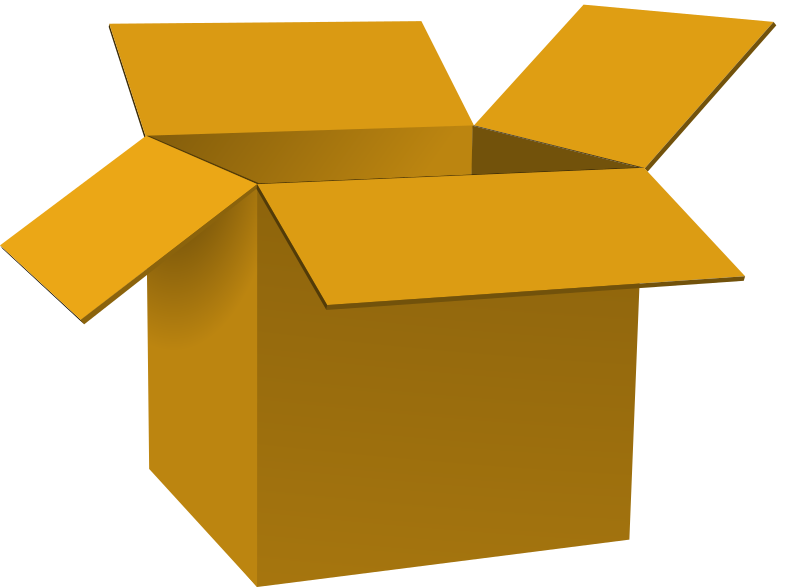 Opened medium image png. Clipart box