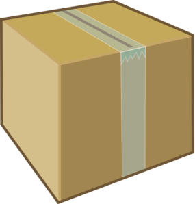Clip art at clker. Boxes clipart cardboard box