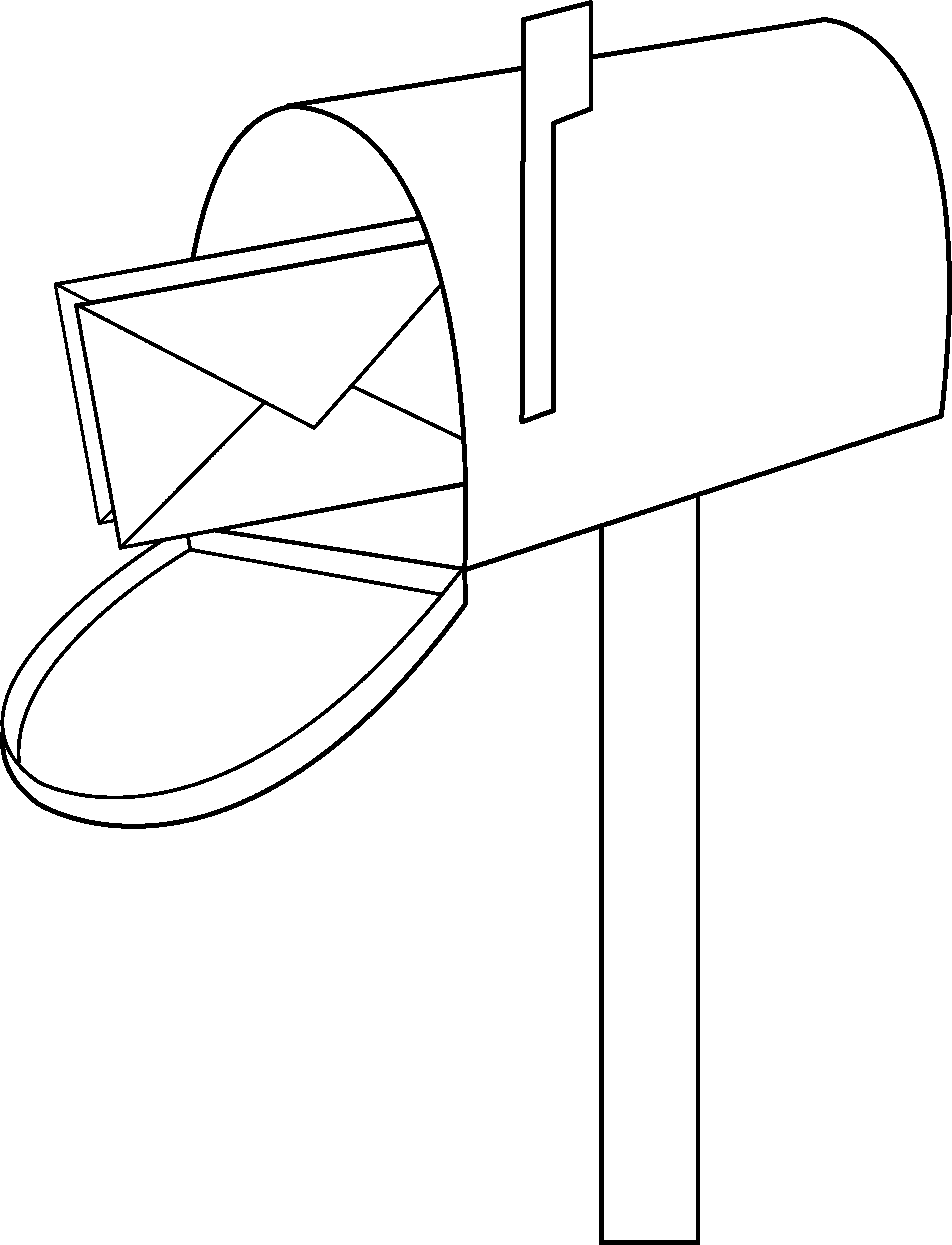 Letter box drawing at. Mailbox clipart direct mail