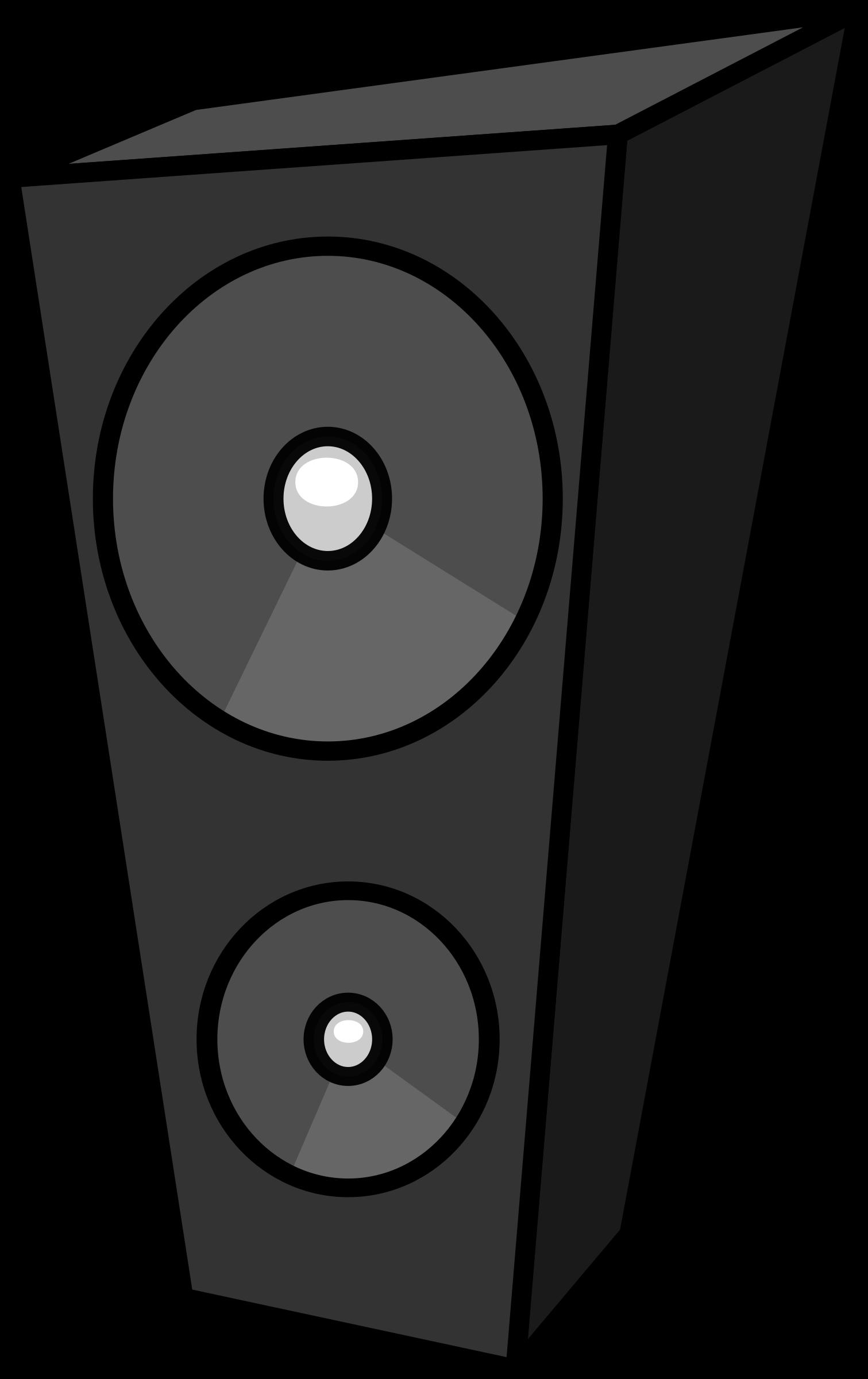 Cartoon speaker big image. Clipart box animated
