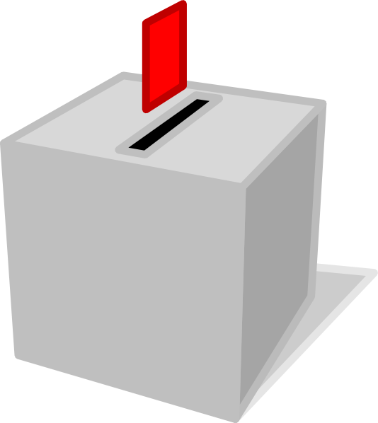 Ballot box clip art. Voting clipart survey