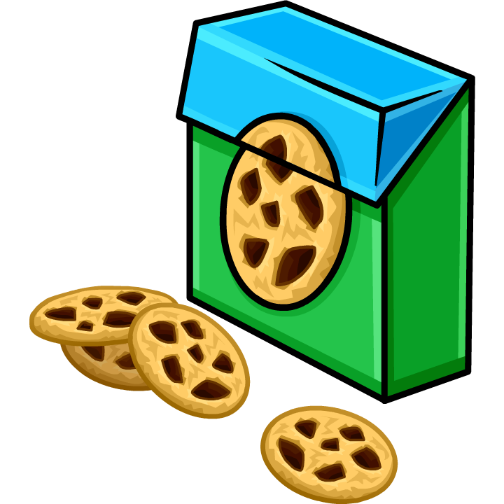 Cookie pencil and in. Clipart box biscuits