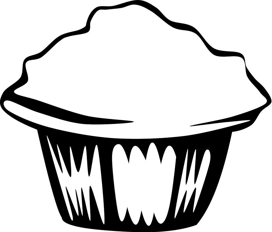 Muffin mix box black. Muffins clipart outline