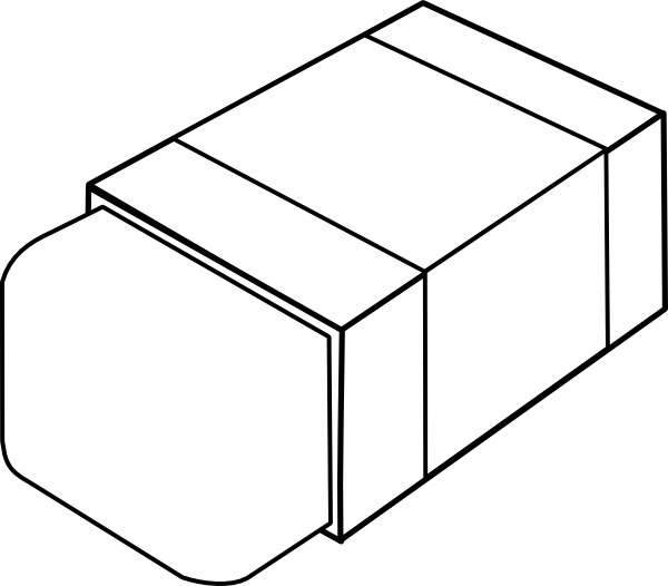 Black clip art download. Eraser clipart colouring page