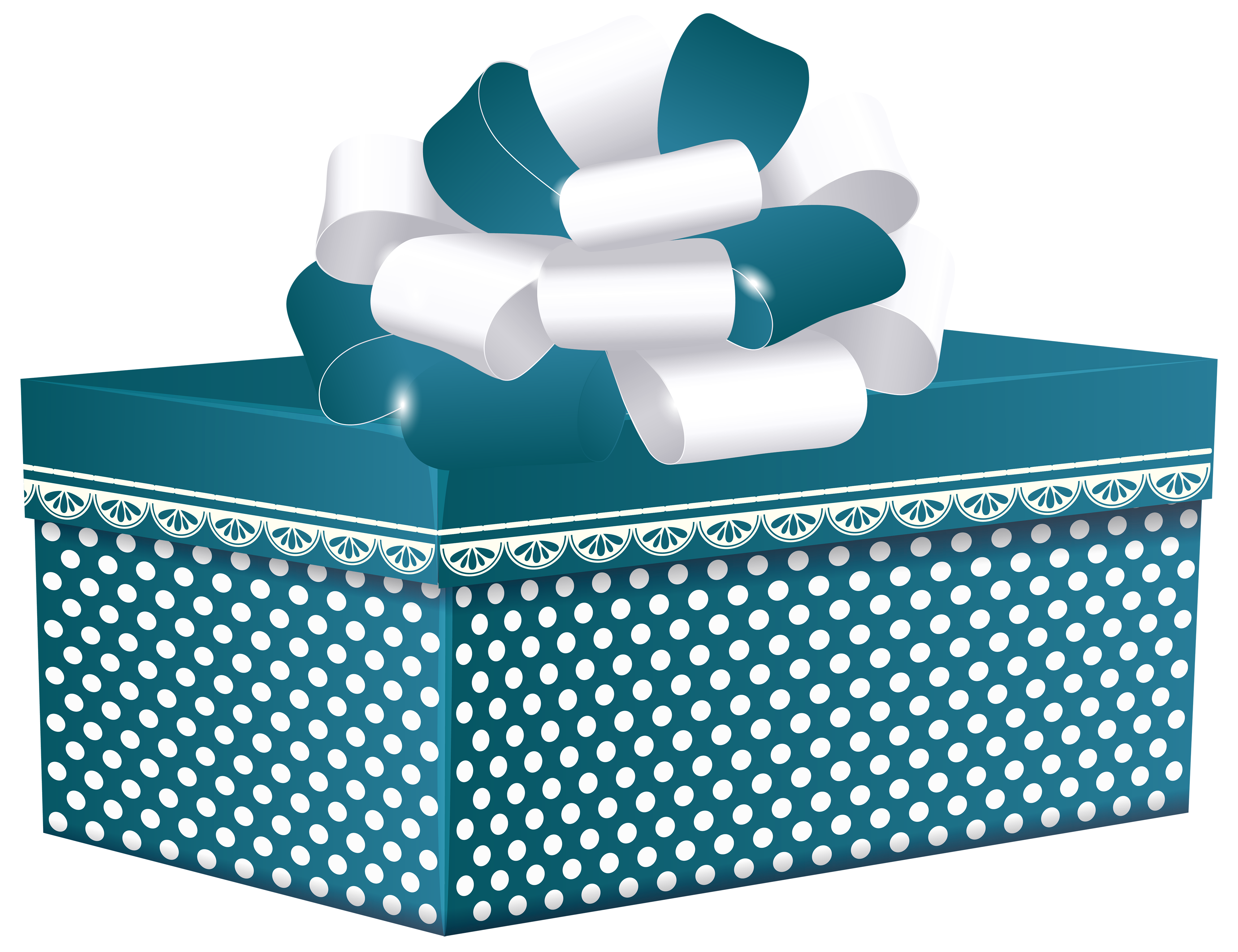Door clipart rectangle. Blue dotted gift box