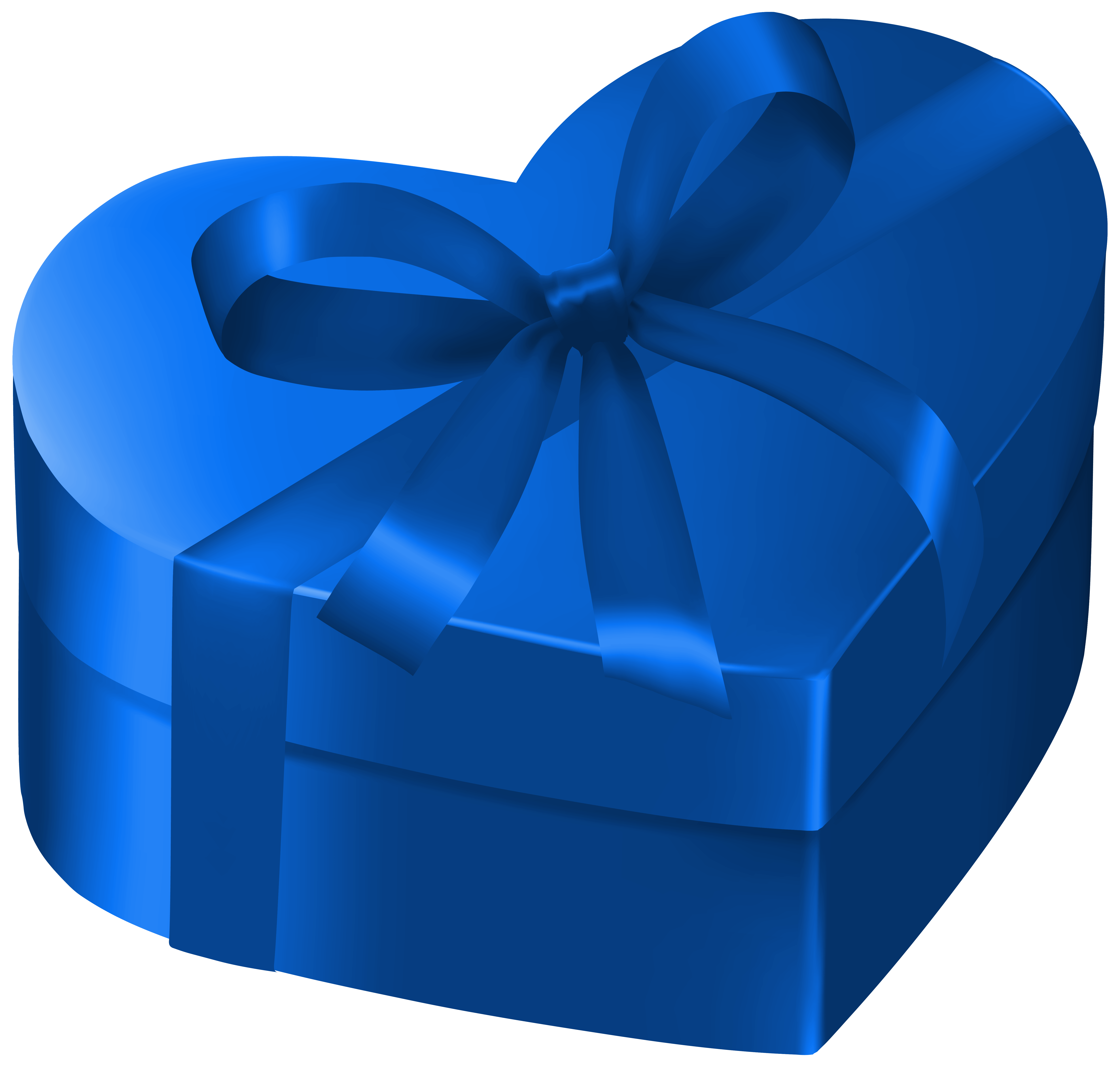 Blue box png image. Gift clipart heart gift