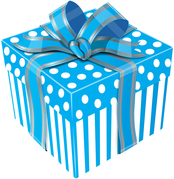 Clipart present something blue. Cute gift box transparent
