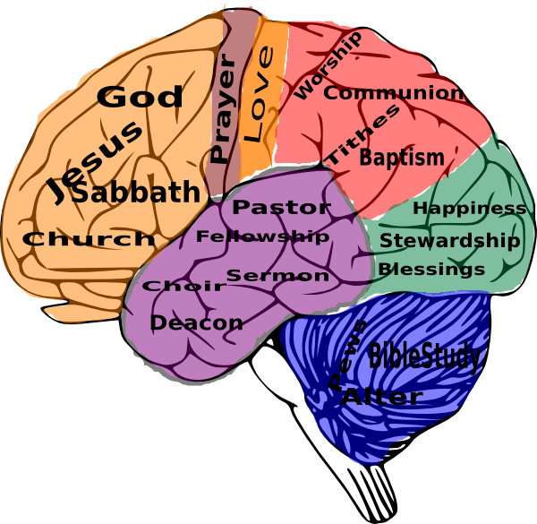 Religion on the clip. Muscles clipart brain