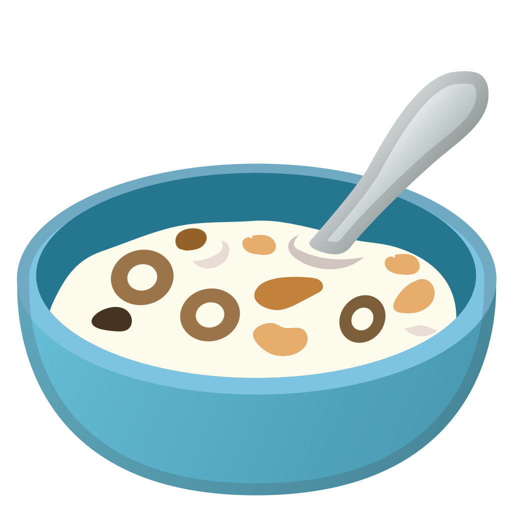 Cereal clipart baby cereal. Bowl with spoon icon