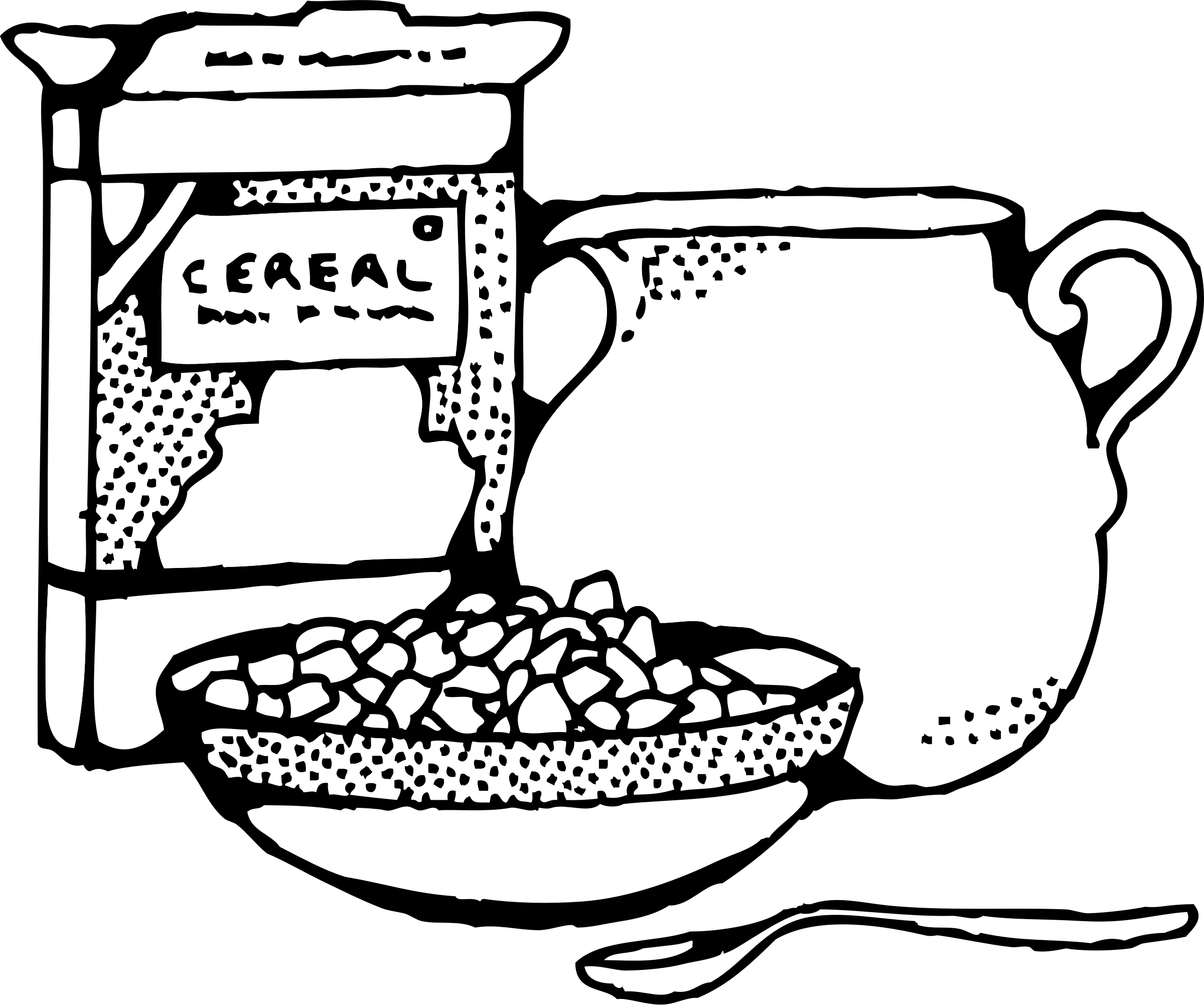 Foods clipart cereal. Box and milk big