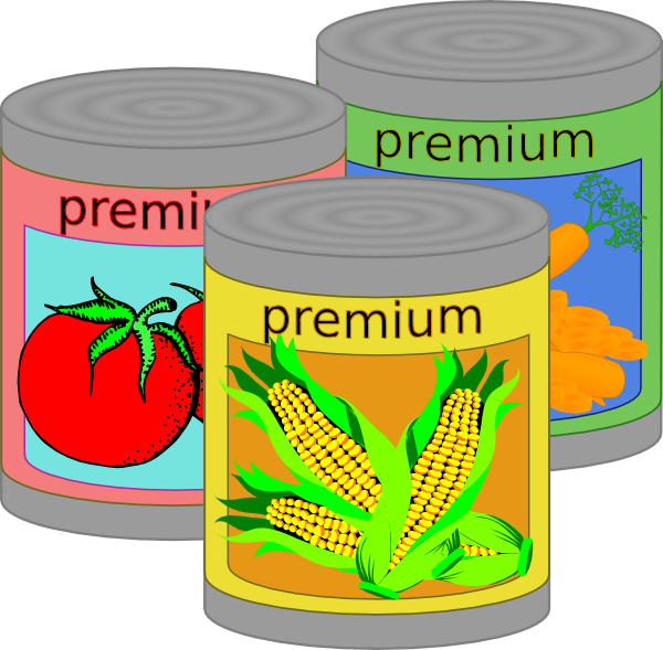 Clipart box canned food. Goods clip art at