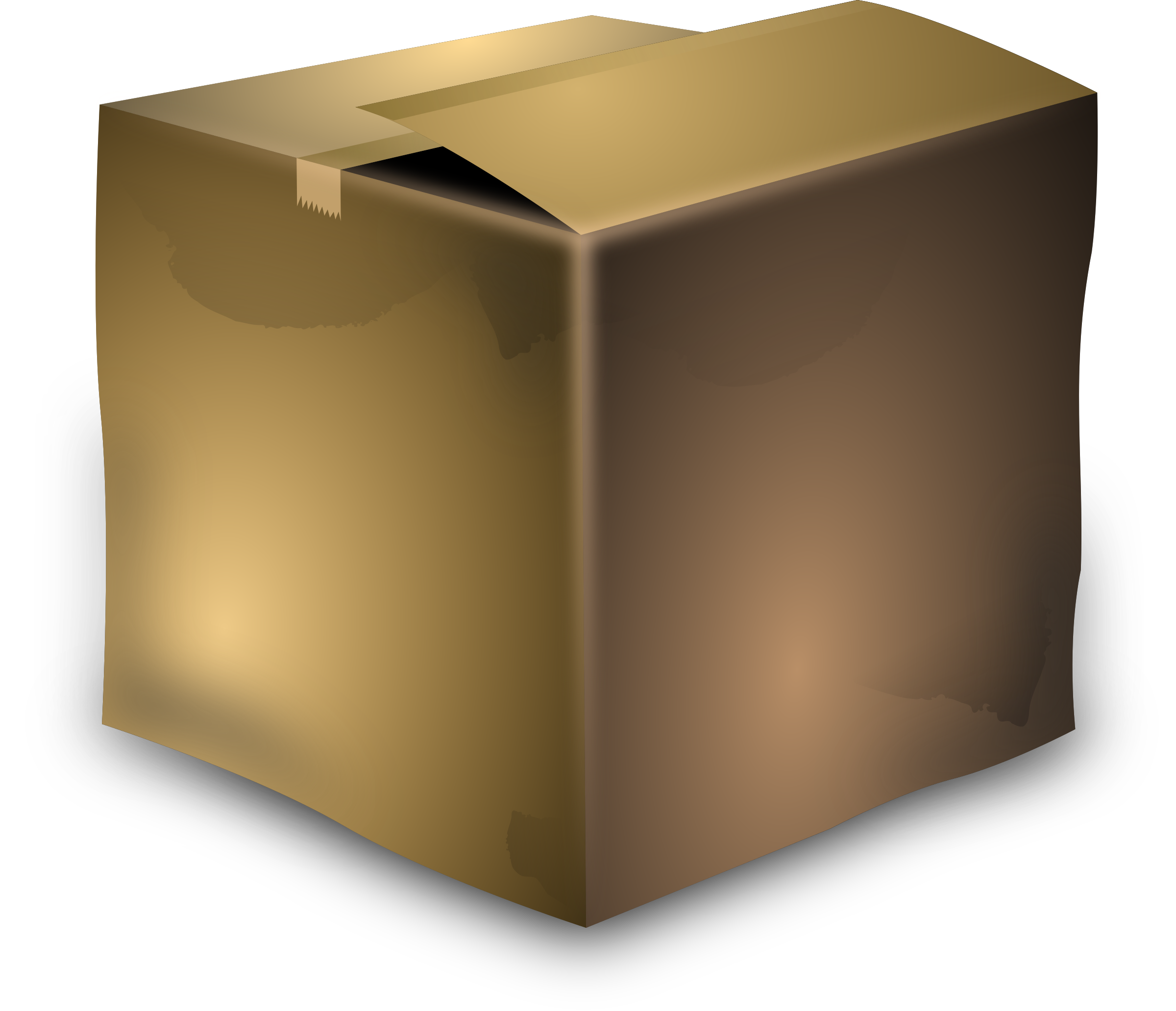 Wallet clipart brown. Cardboard box big image
