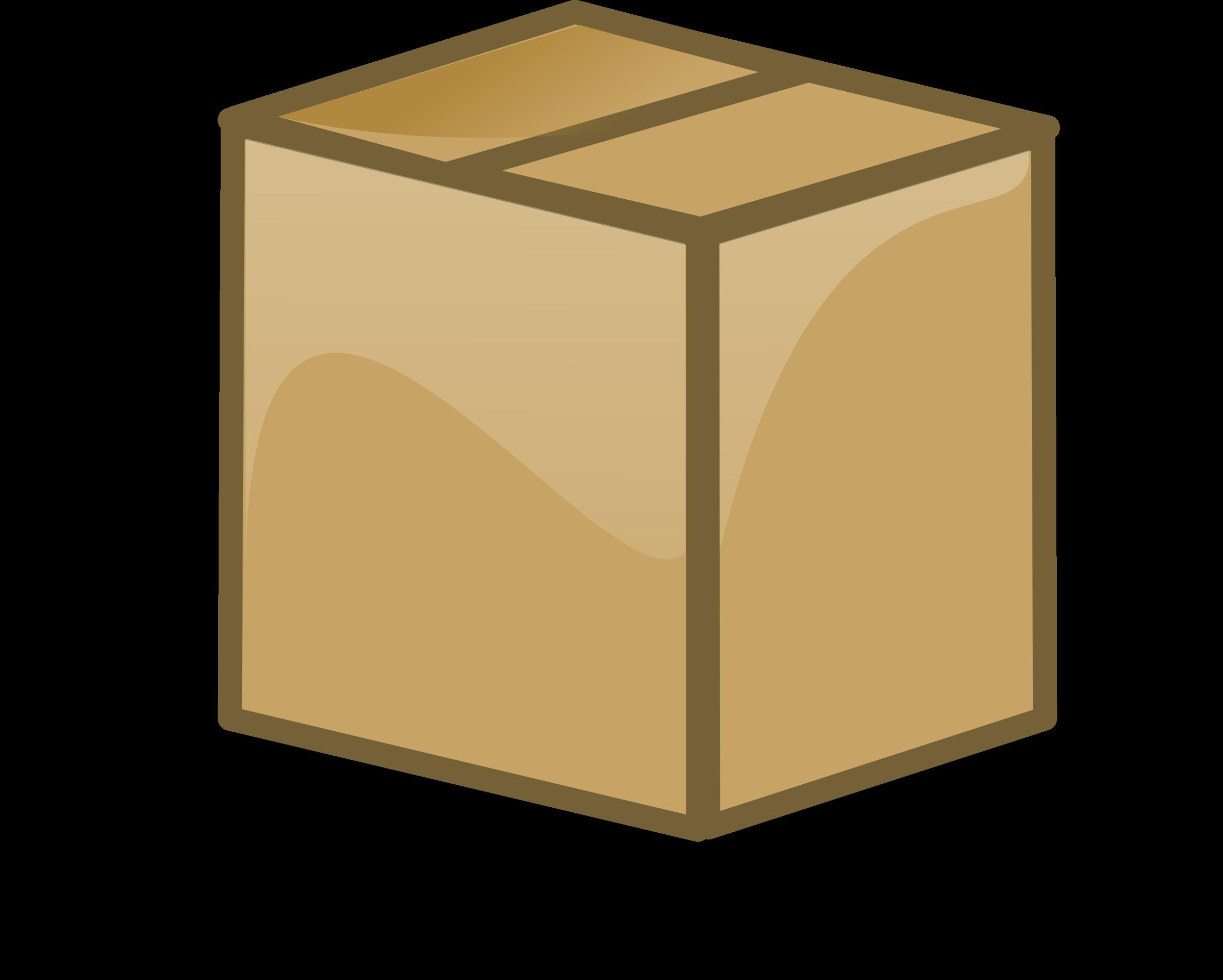 Clipart box carton box. Closed