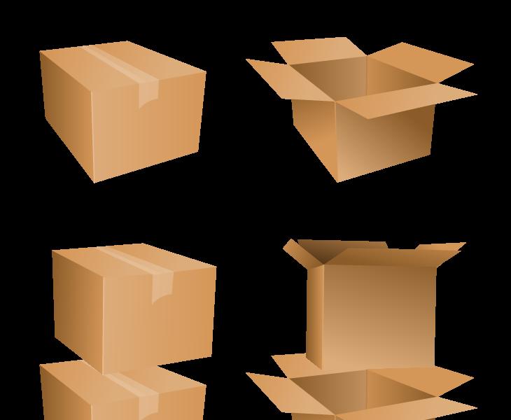 Free vector cardboard icons. Clipart box carton box