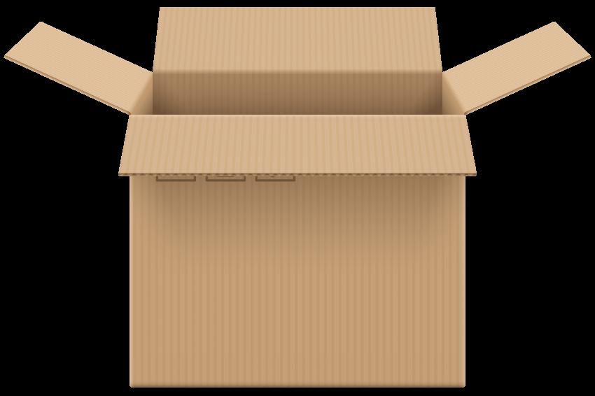 Clipart box carton box. Cardboard open png free
