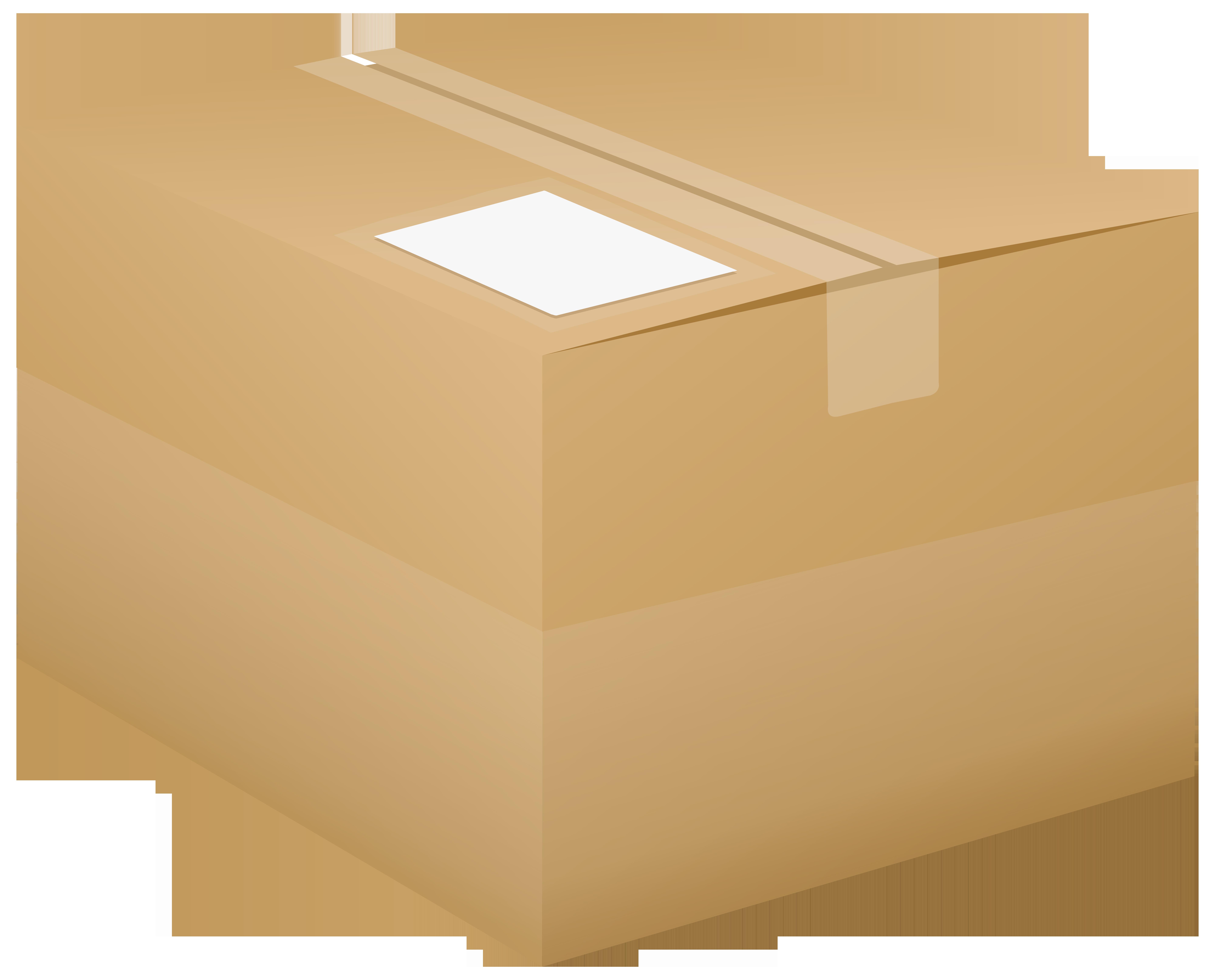 Png clip art image. Box clipart cardboard box