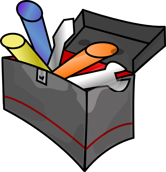 Clipart box cartoon. Tool clip art at
