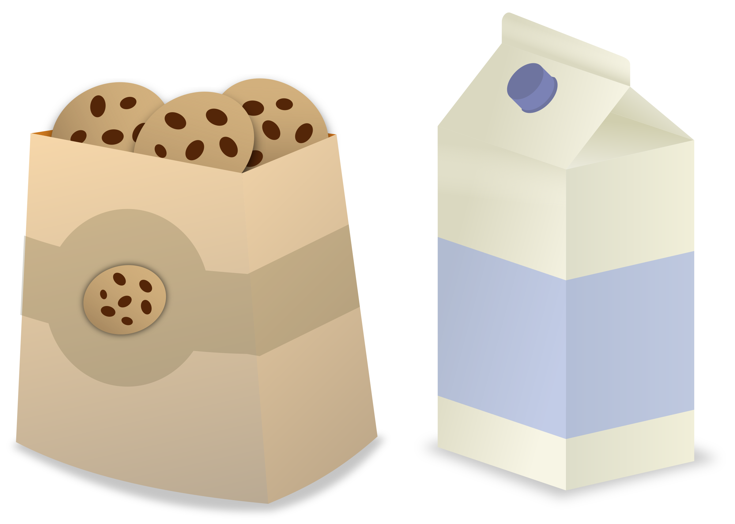 Clipart box cartoon. Milk cookies big image
