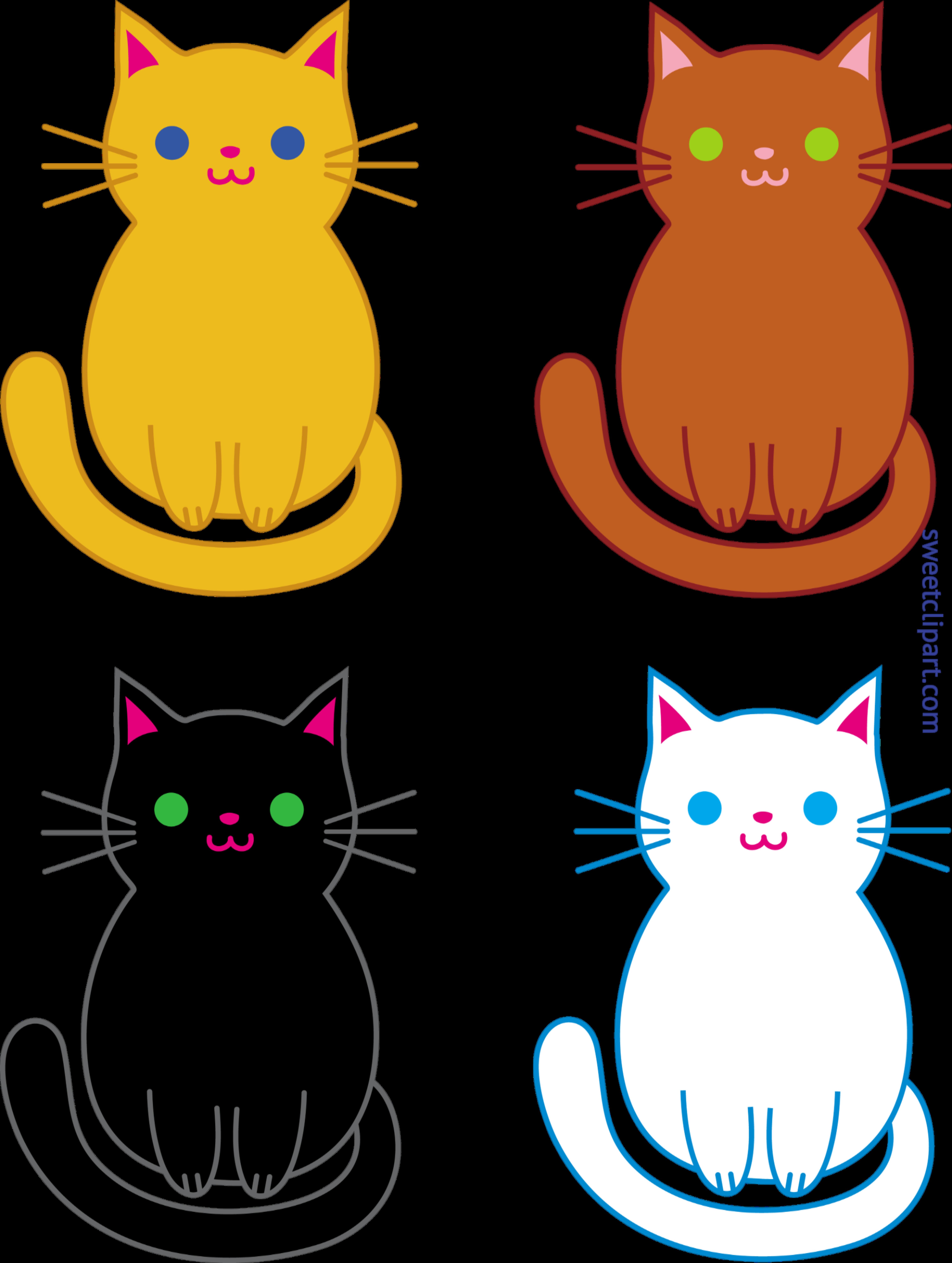 Clipart castle cat. Cute kittens clip art