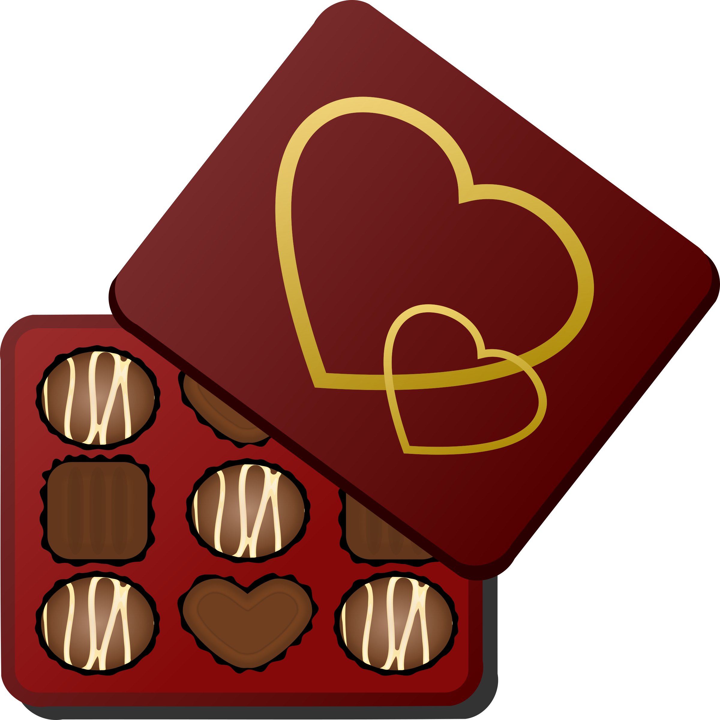 Box of chocolates big. Valentine clipart chocolate