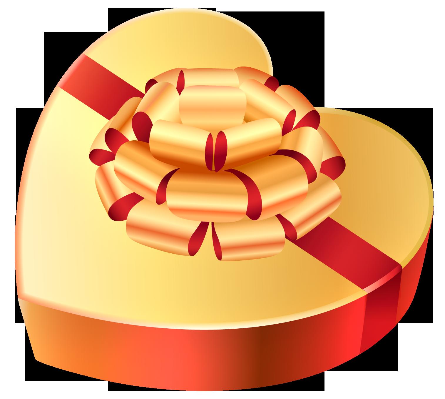 Valentine clipart chocolate. Gold heart chocolates box