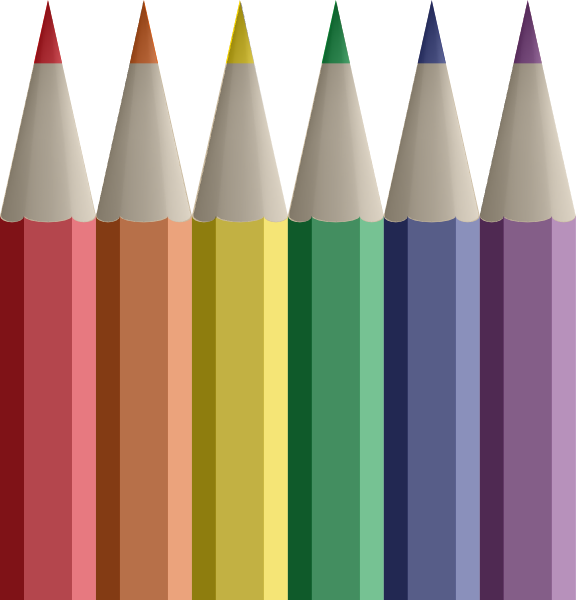 Pencils clip art at. Clipart pencil colored pencil