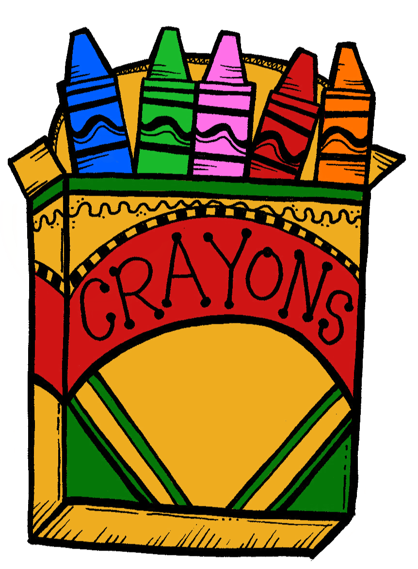 collection of box. Crayons clipart shape