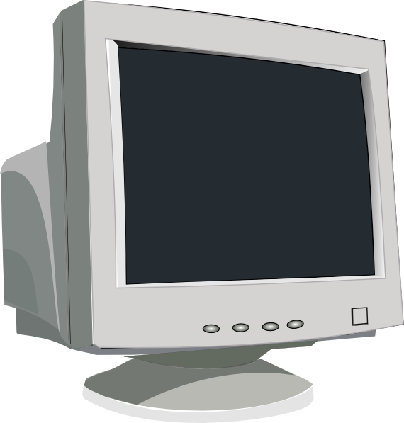 Computer monitor clip art. Clipart tv old technology