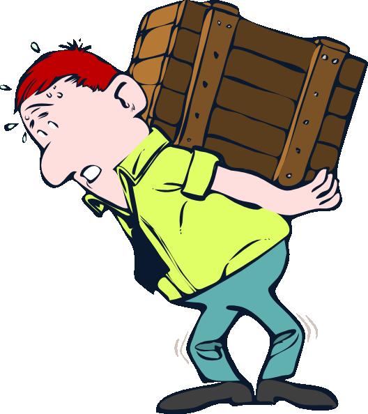 Lifting crate clip art. Mechanic clipart strong