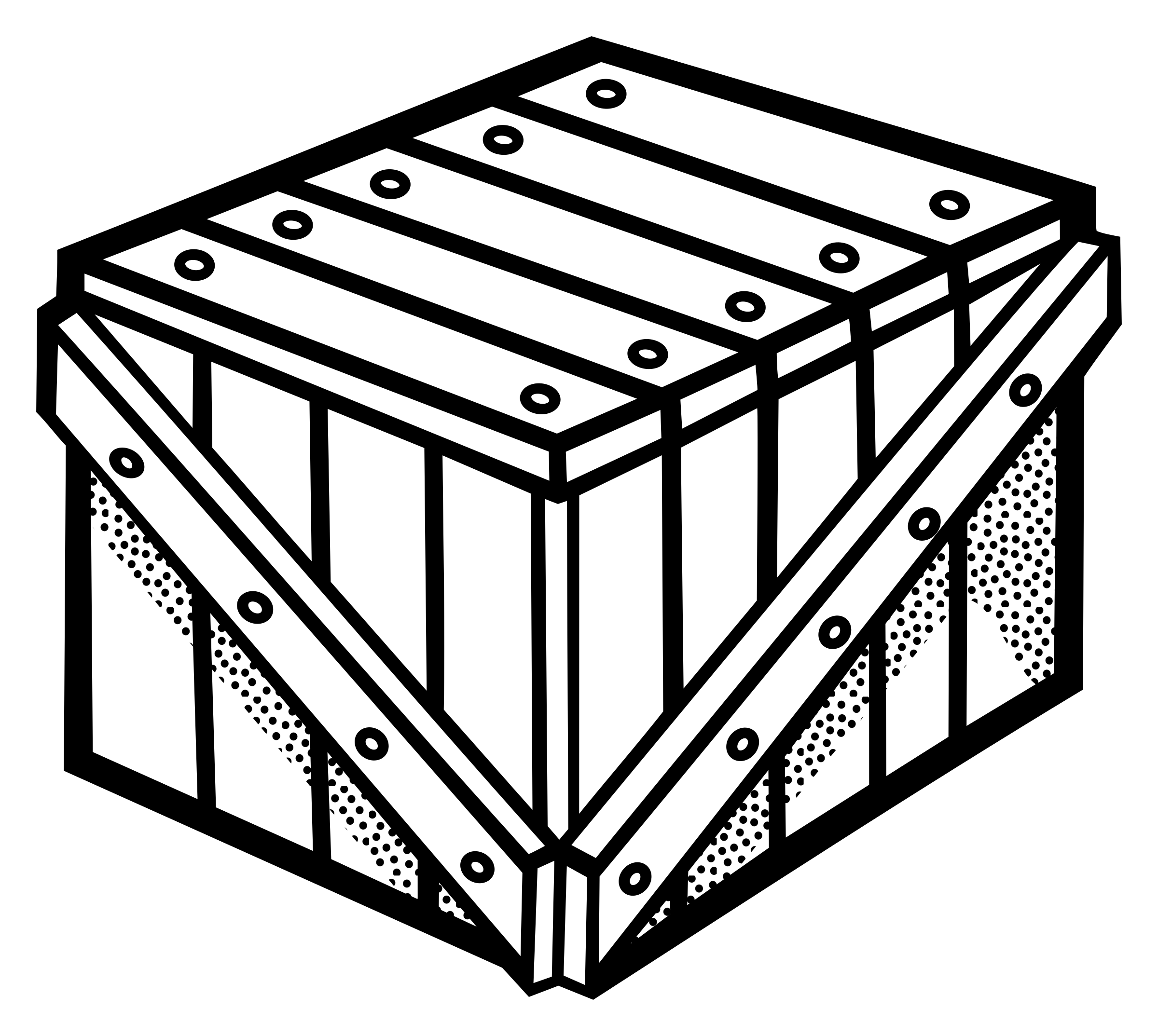 Clipart box crate. Lineart big image png