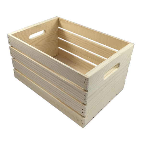 Clipart box crate. Pine unfinished with standard