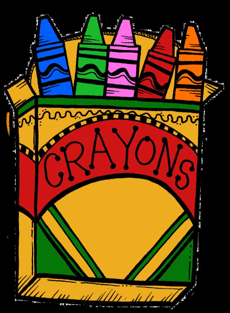 Crayons dinosaur top clip. Clipart school crayon