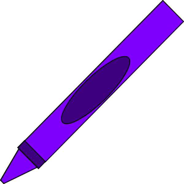 markers clipart purple