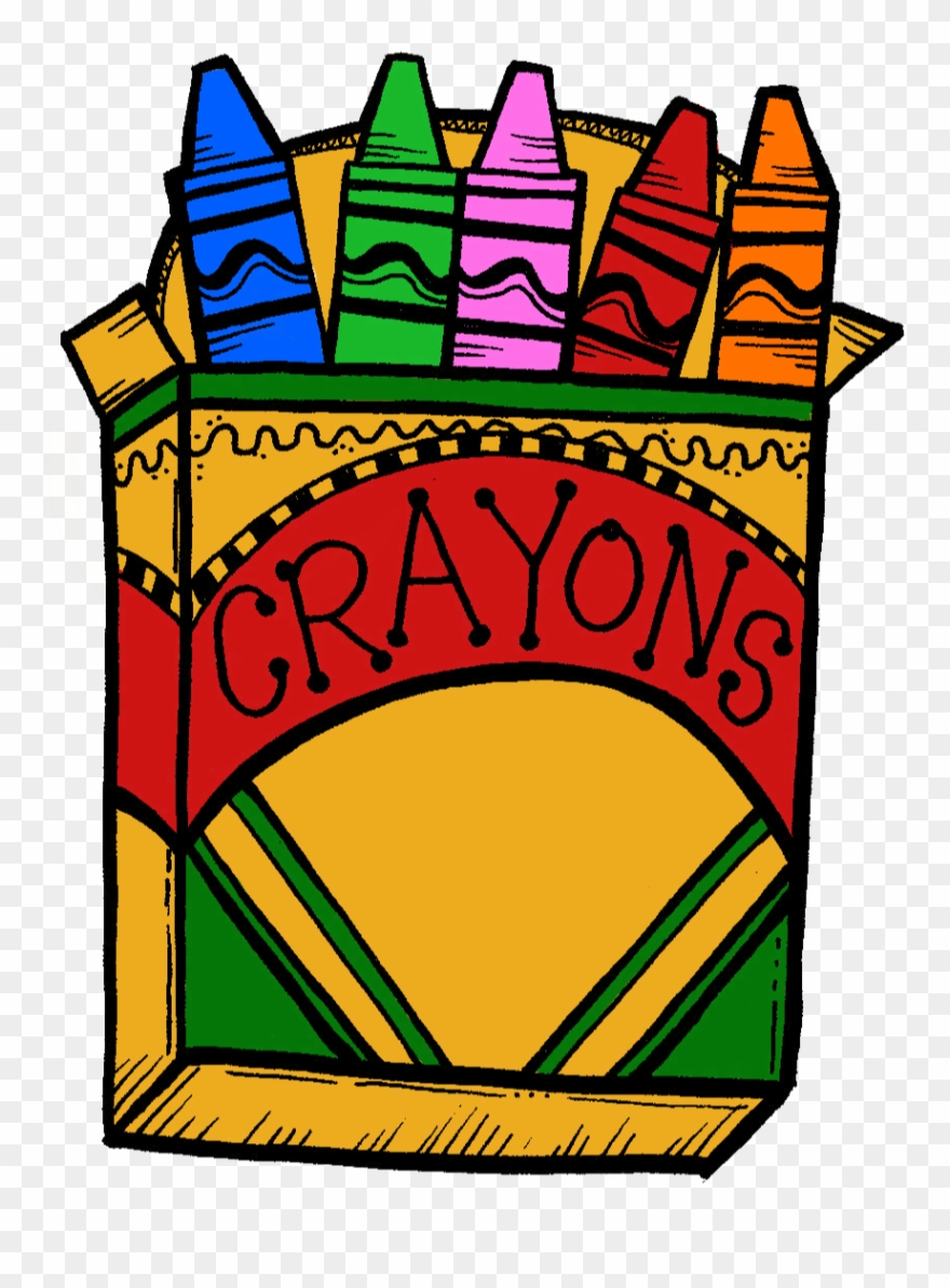 Crayons clipart box 10. Pack of png