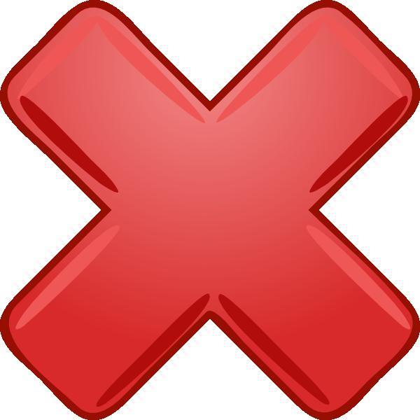Cross mark clip art. R clipart red