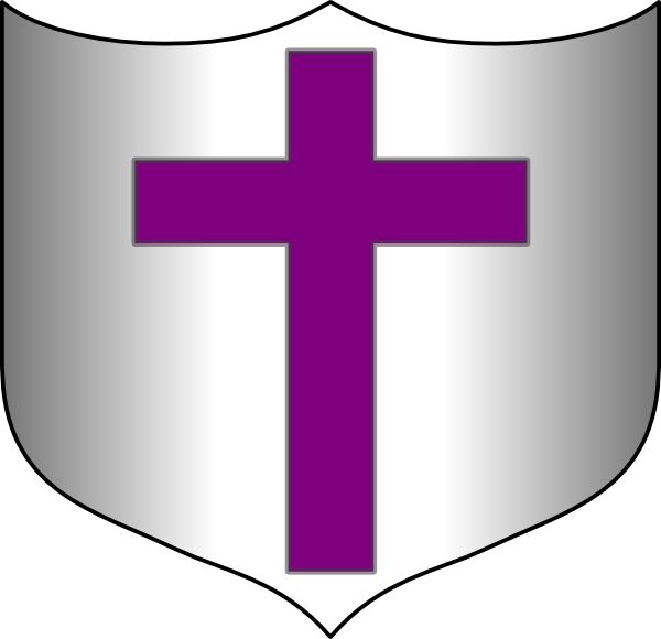 clipart shield cross