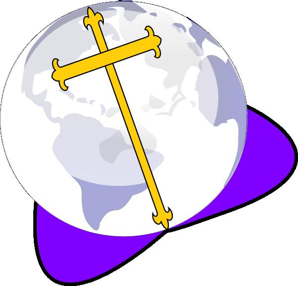 Globe clipart symbol. Cross and clip art